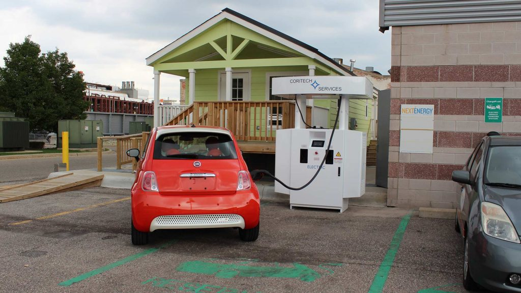 NextEnergy's vehicle-to-home charging station