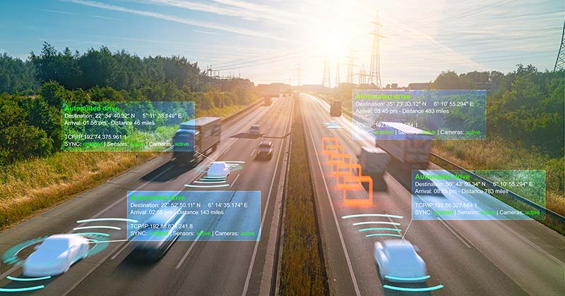 automated vehicles on a highway